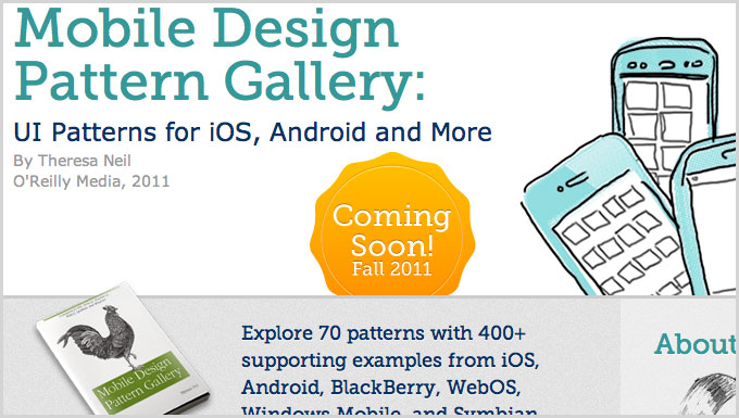 Mobile Design Pattern Gallery, book by Theresa Neil