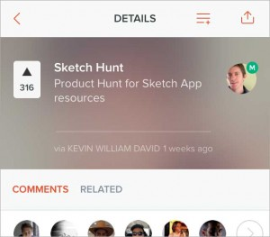 Sketch Hunt on the Product Hunt mobile app