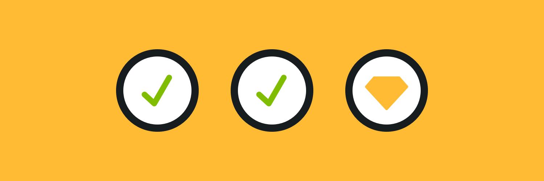 Sketch app update checklist illustration