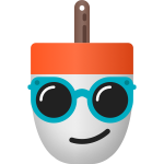 Buoymoji Smiling Face with Sunglasses by James Young - pink