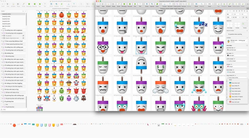Buoymojis designs by James Young @jydesign