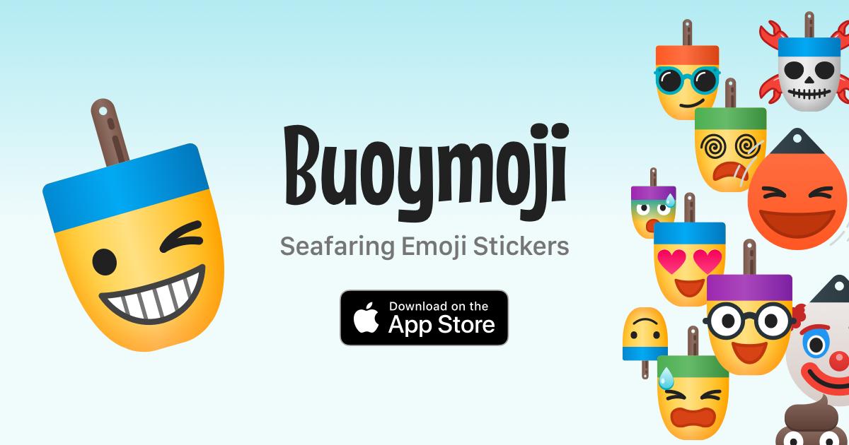 Buoymoji Seafaring Emoji Stickers for Apple iMessage