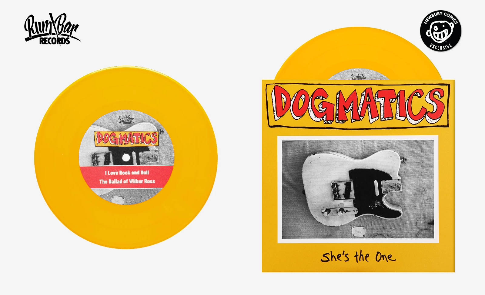"""THE DOGMATICS She's The One Exclusive 7"""" in Yellow Vinyl"""