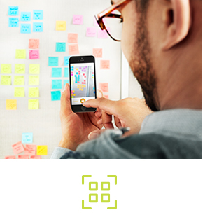 Post-it® App. Download on iPhone or Android™ devices