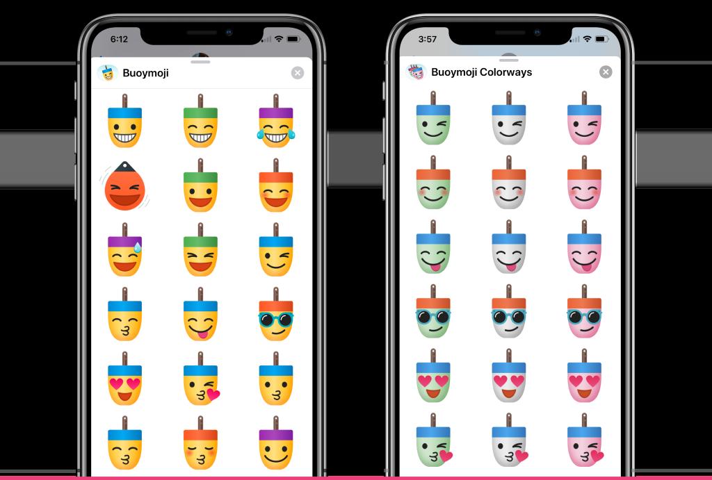 Buoymoji - three free iOS sticker sets