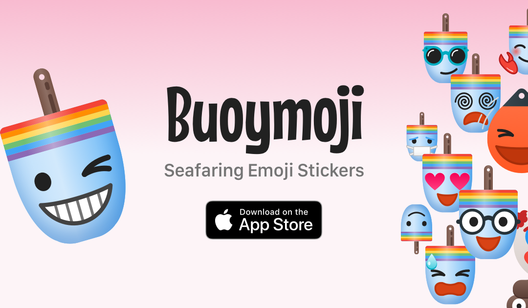 Buoymoji Rainbow emoji stickers for Apple iMessage