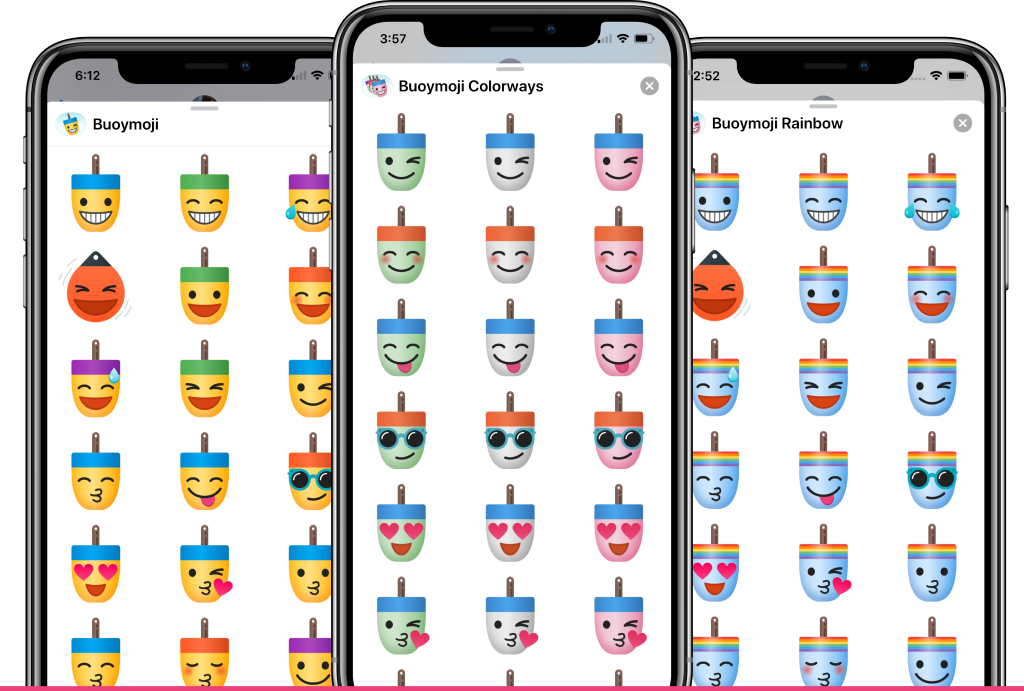 Buoymoji - three free iOS sticker sets