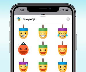 Buoymoji stickers for iOS Messages